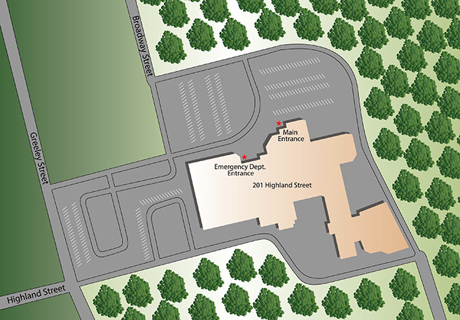 Map of Clinton Hospital
