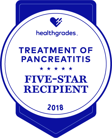 five-star recipient for treatment of pancreatitis