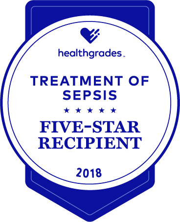 five-star recipient for treatment of sepsis