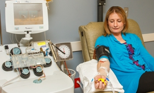 patient donating blood