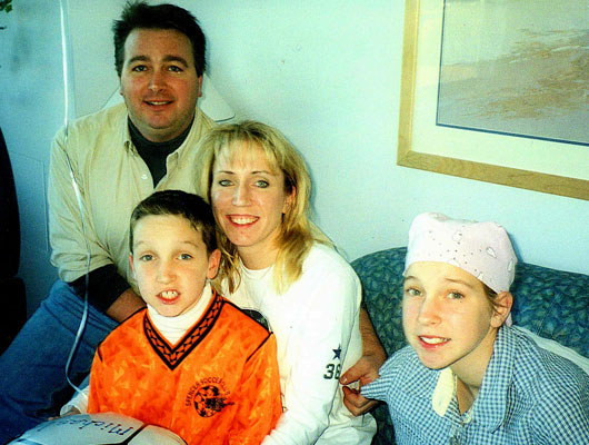 The Langlois family during Kaitlyn's treatment