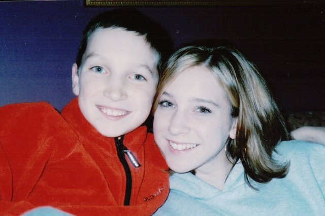 Kaitlyn with her brother Michael in 2004