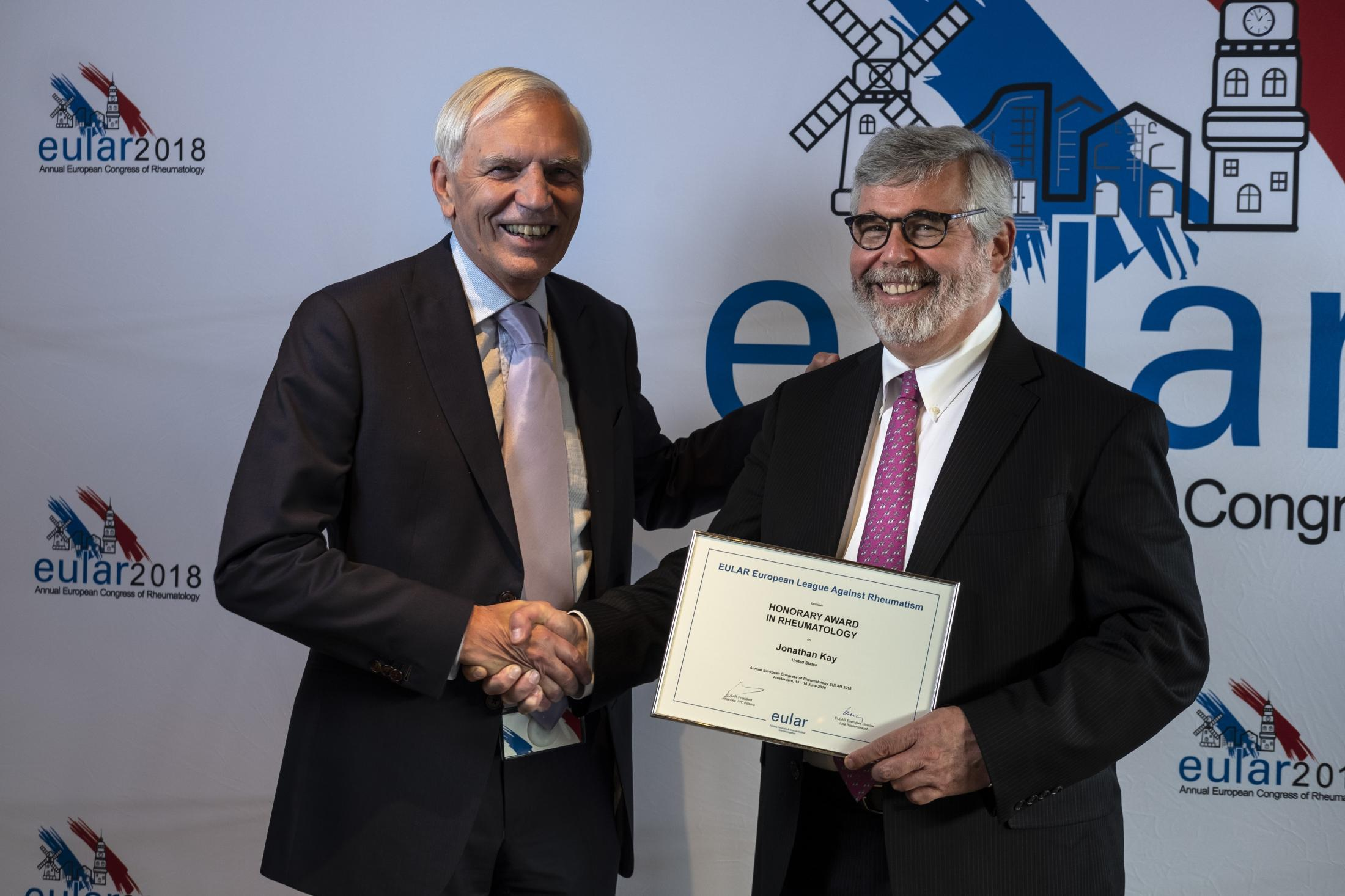 Dr  Jonathan Kay Named Honorary Member of Prestigious European
